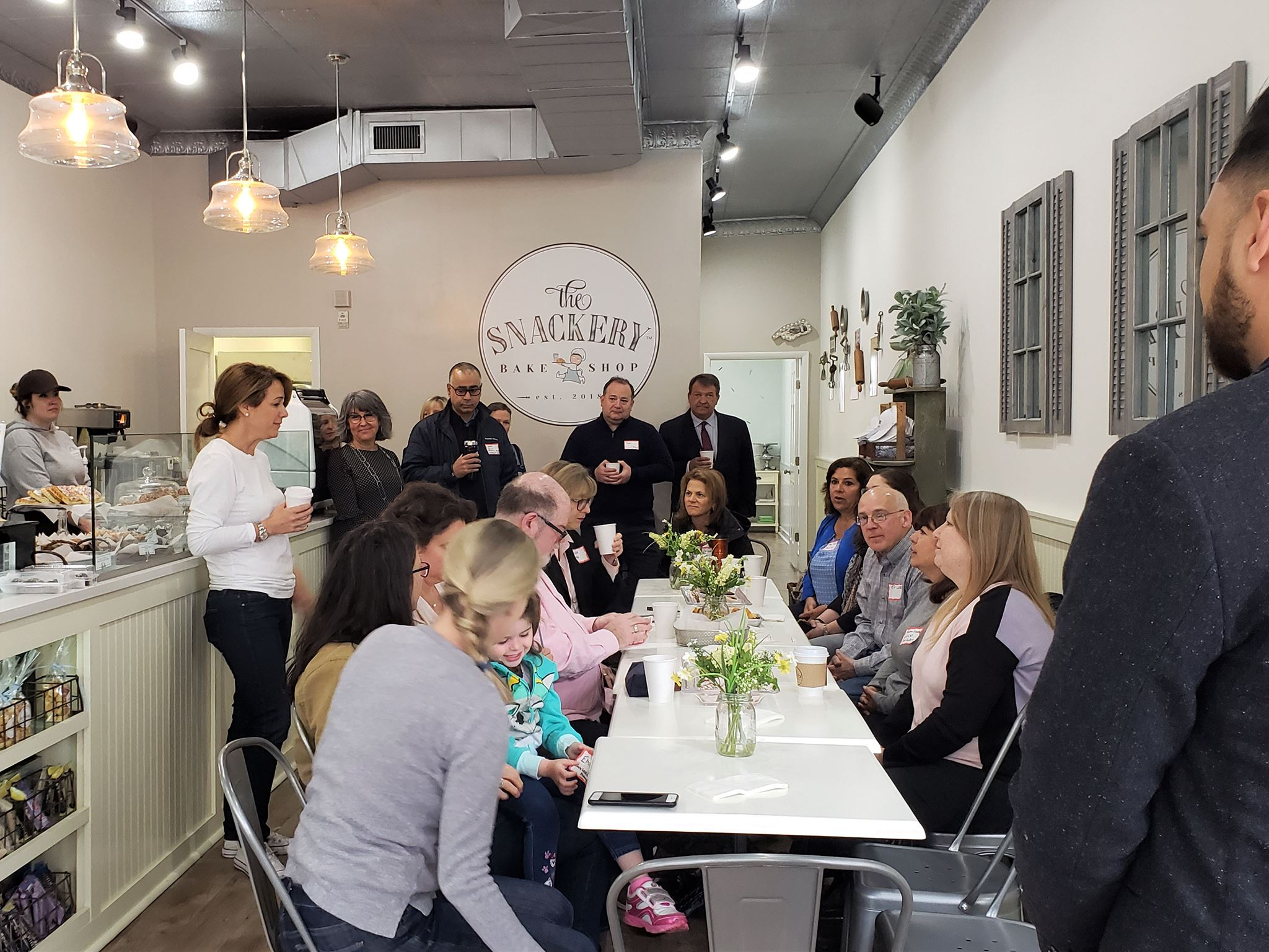 Thank you Snackery for hosting our April meeting - Snackery - 1985 Palmer Ave., 8:30a