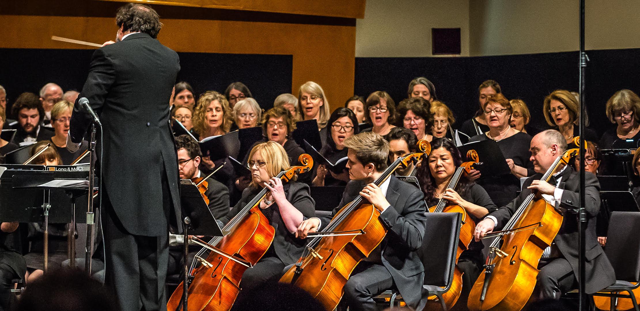 The toronto choral society and the scarborough philharmonic orchestra performing antonio vivaldi's gloria, at the scarborough citadel. April 7, 2018.