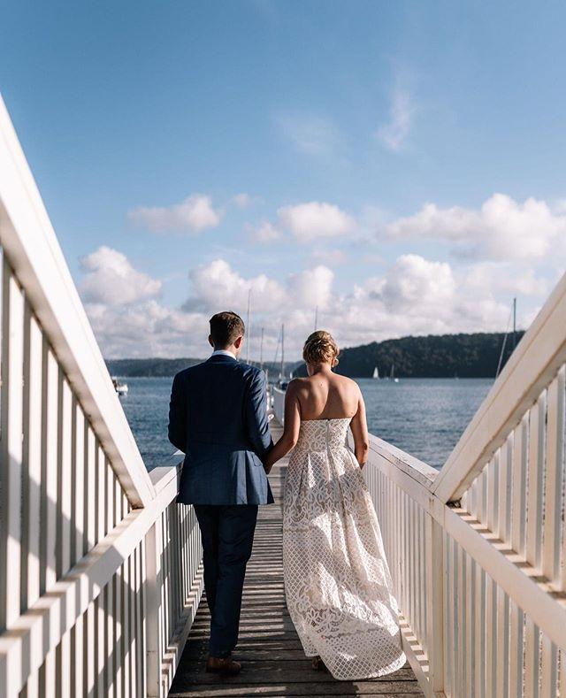 Leah + Matt down by the water Photo @rippleweddings ⠀ #theboathousegroup #mobydickswhalebeach #weddingphotos #weddings #sydneyevents 