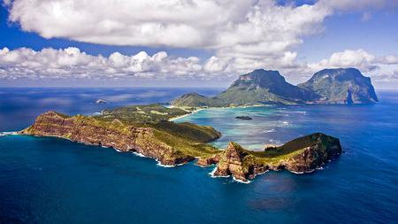 Lord Howe Island, 780 km northeast of Sydney. Rats invaded from a sinking ship in 1918. Photo: I. Hutton