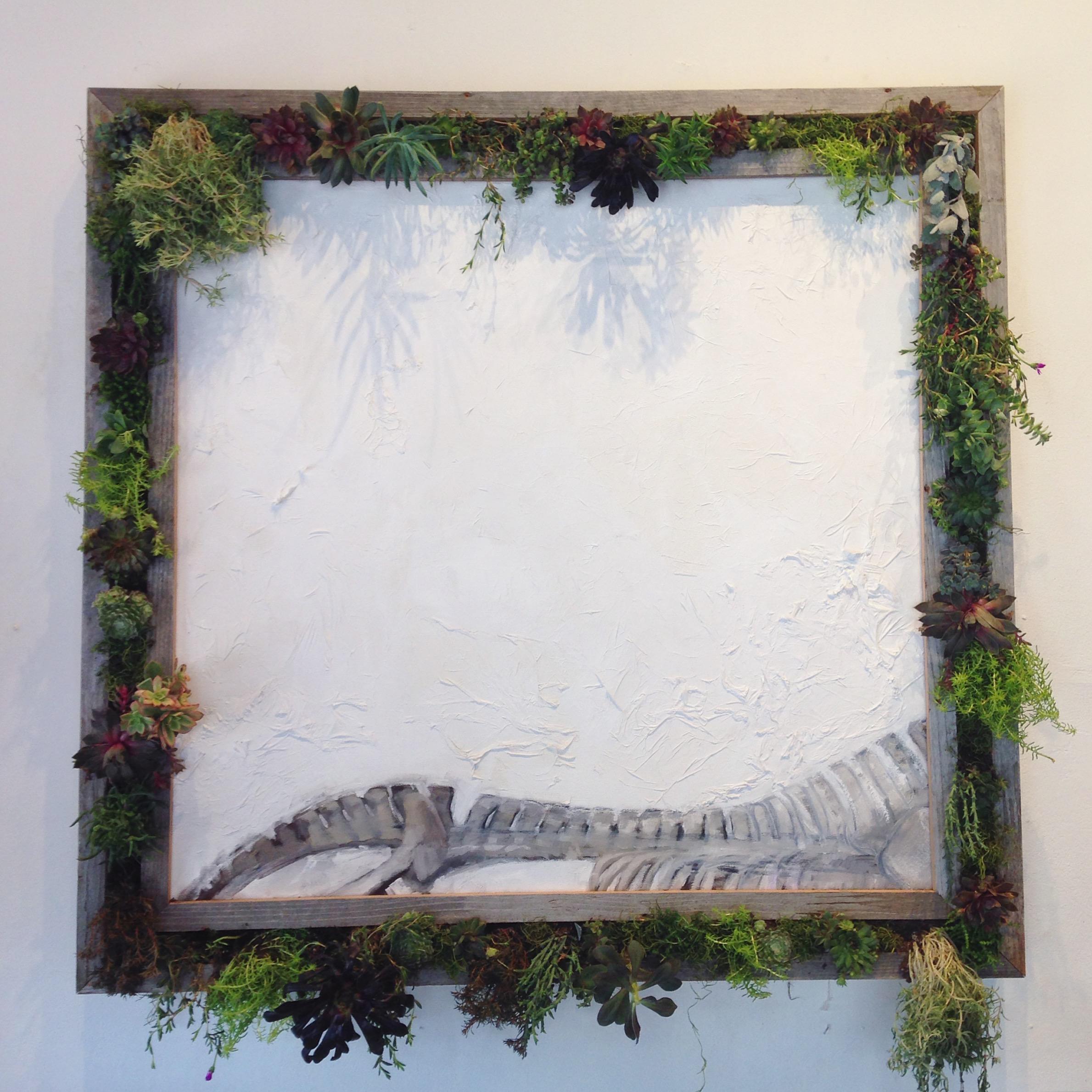 Elk Skeleton (live succulent frame)