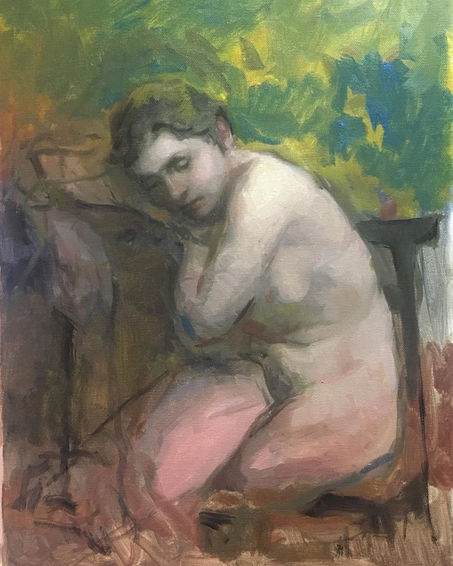 Schlafen. Sometimes it can be good to stop when you do not where to continue. #sleep #oilpainting #figurativeart #portrait #art #arte #kunst #nude