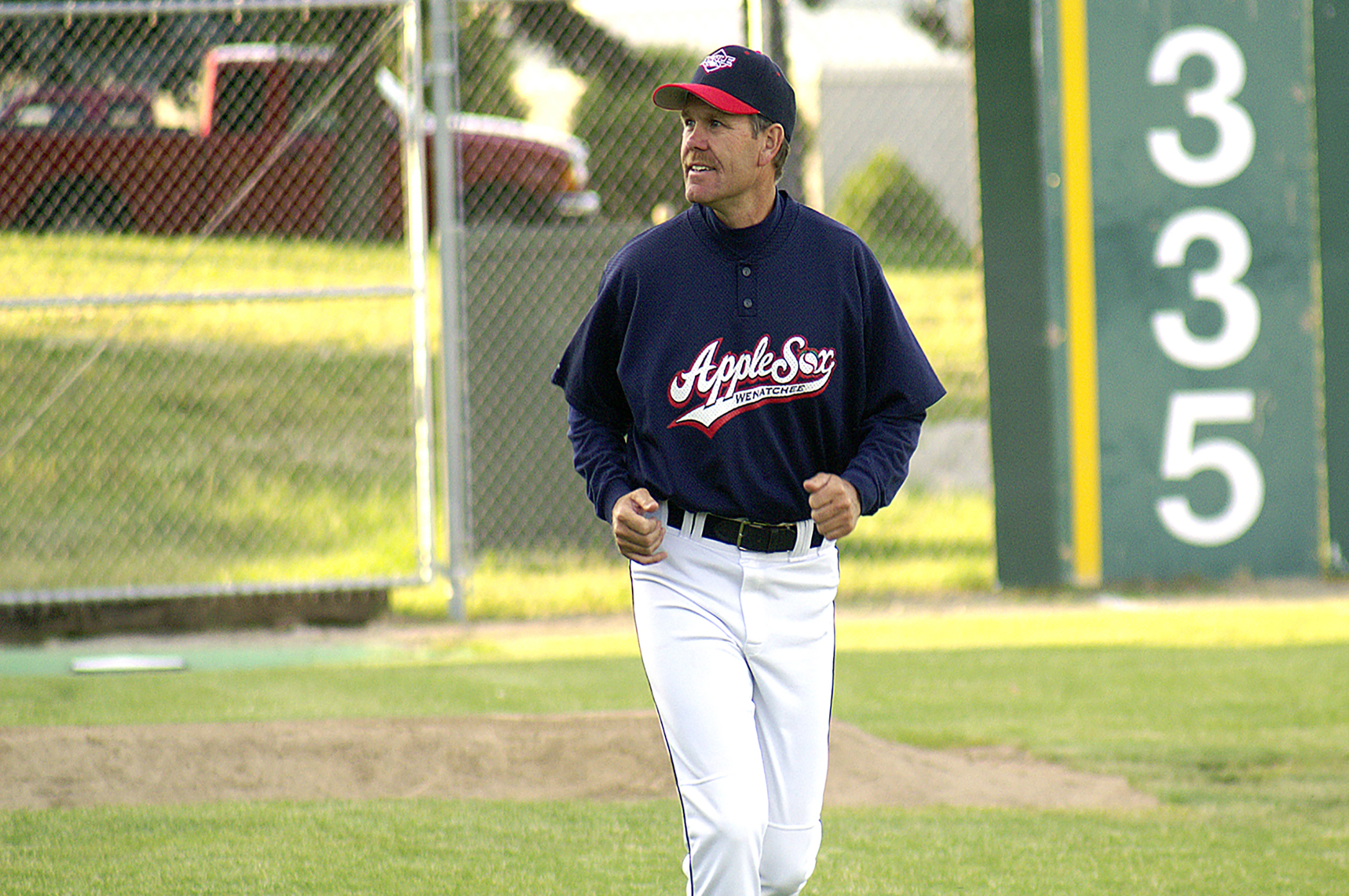 Ed Knagg's 14th season with the AppleSox, which ended Sunday will be his last, he announced Tuesday.  Photo Courtesy of AppleSox Baseball Club