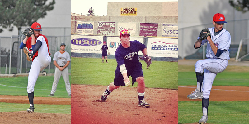 AJ Proszek and the AppleSox will look to returners Hunter Wells (left), Kyle Vanderkin (center), and Colton Loomis (right), for leadership in 2015.