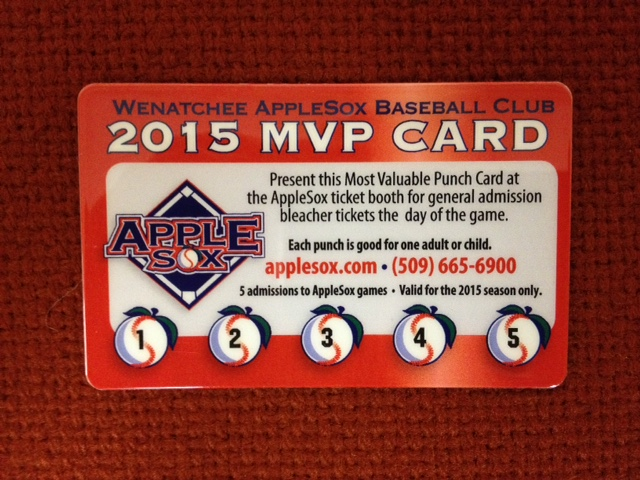 AppleSox 2015 MVP Cards give fans the opportunity to purchase five general admission tickets for $20.