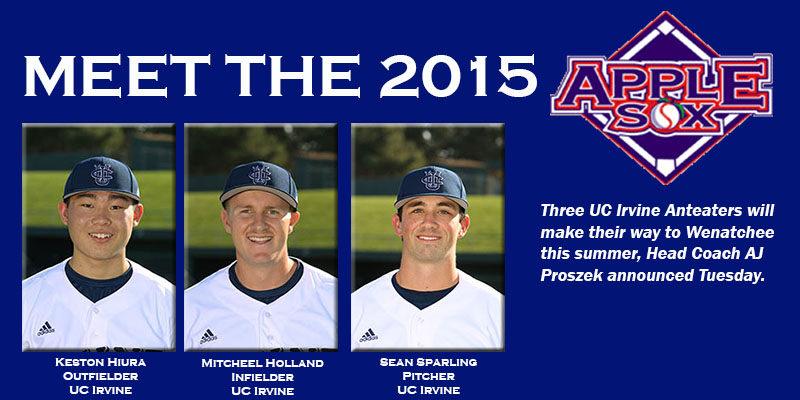 UC Irvine will continue to provide the AppleSox with top talent in 2015, Head Coach AJ Proszek announced, Tuesday.