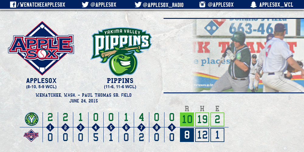 While it got the Sox back in the game, a five-run fourth inning wasn't quite enough for Wenatchee, Wednesday.