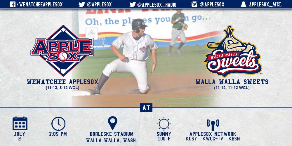 The AppleSox and Sweets face off in a rubber match game Thursday June 2, at 7:05 p.m.