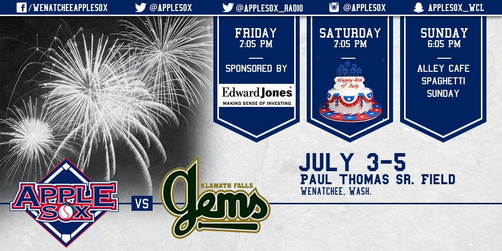 Big weekend and Monday-Wednesday coming up at Paul Thomas Sr. Field! It all starts with Fireworks Night, tonight, brought to you by Edward Jones.