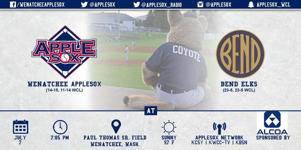 The AppleSox will look to even the three-game series with Bend, Tuesday night.