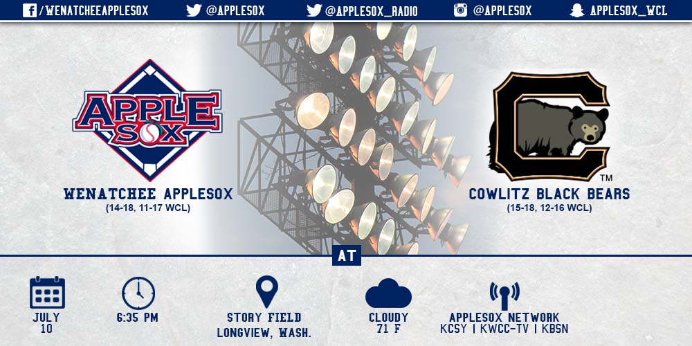 The AppleSox and Black Bears face off under the lights tonight at Story Field.