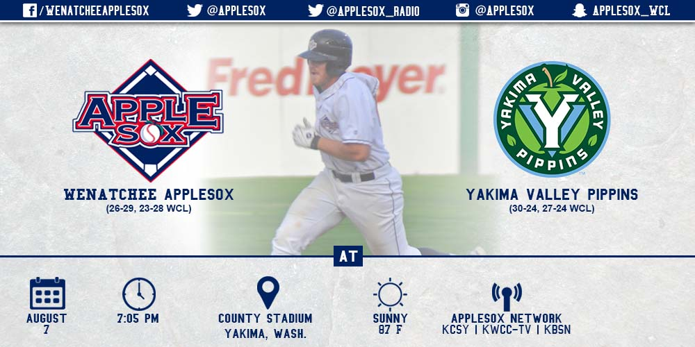 The AppleSox and the Yakima Valley Pippins open their final series of 2015, Friday night at County Stadium in Yakima.