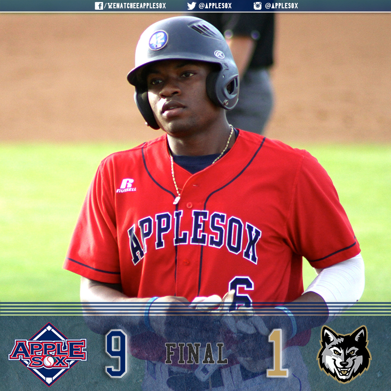 Otis Statum's first two extra-base hits of WCL play cleared the wall at Oslund Field in Gresham, Ore. The Sox went on to win 9-1.