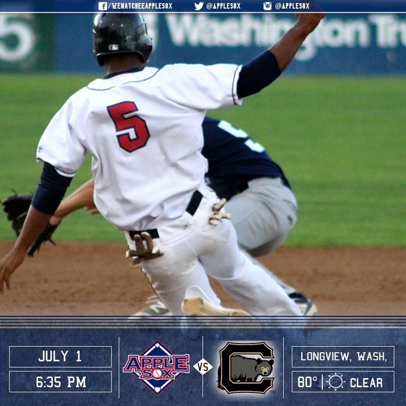 The AppleSox have not won a road series in 2016 after losing game one. They are looking to change that tonight, by evening the series in Longview.