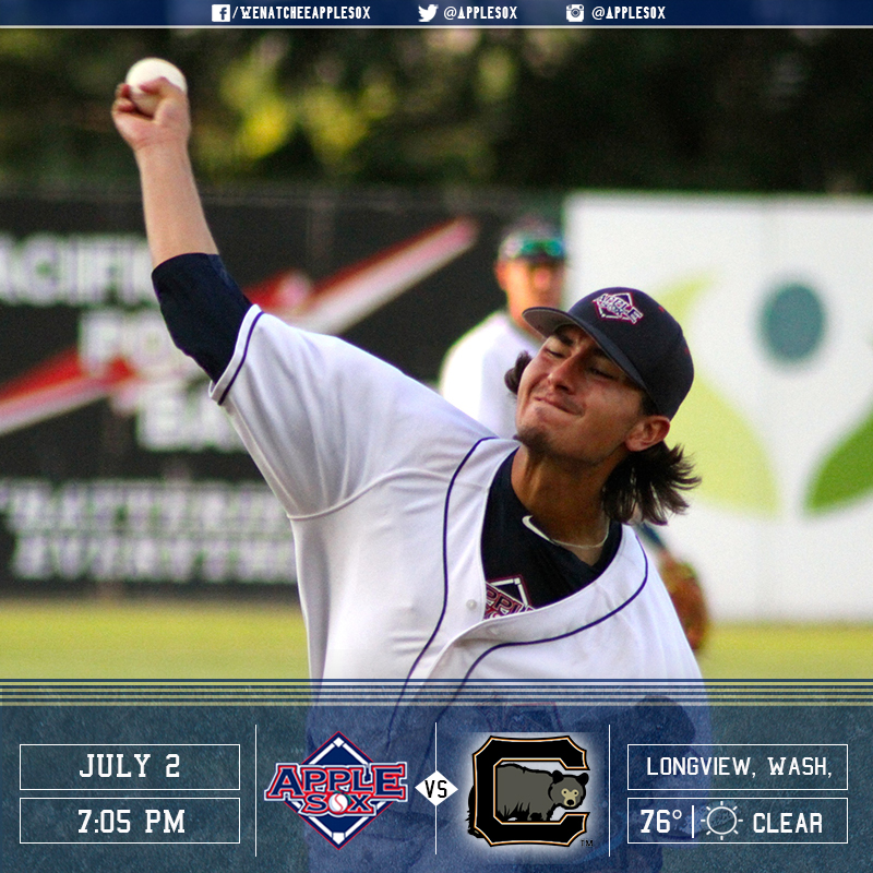 Jimmy Dobrash is back on the mound for the Wenatchee AppleSox, Saturday, looking for his second win of 2016.