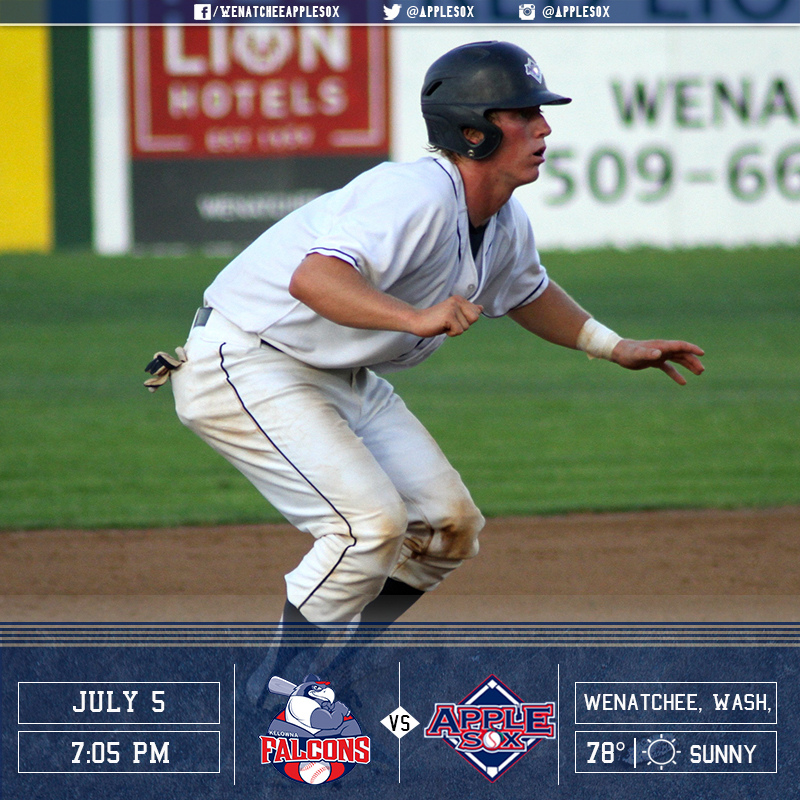 The AppleSox and the Kelowna Falcons will play for a series win, Tuesday night at Paul Thomas Sr. Stadium.