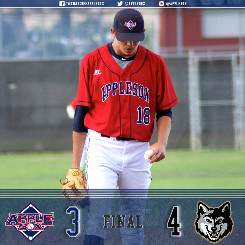 The AppleSox couldn't hold a ninth-inning lead and didn't take advantage of Grady Miller's third quality start of the summer in a 4-3 extra-inning loss.