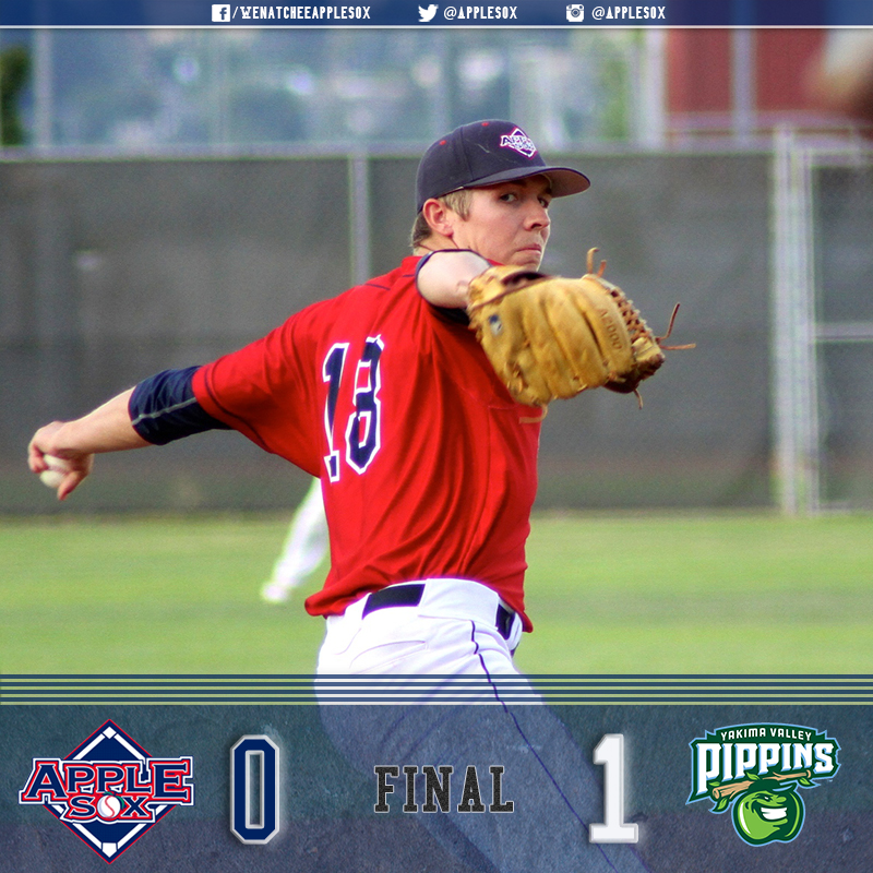 Grady Miller turned in 8 2/3 innings, before the Yakima Valley Pippins walked off the AppleSox, Friday.