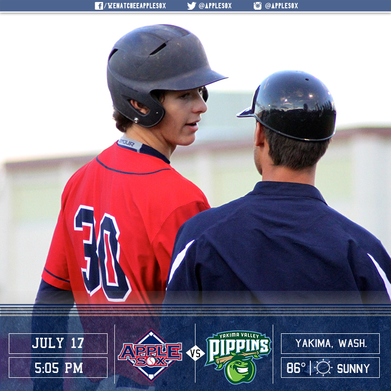 Wenatchee completes its pre-All Star schedule Sunday at 5:05 p.m. vs. the Yakima Valley Pippins.