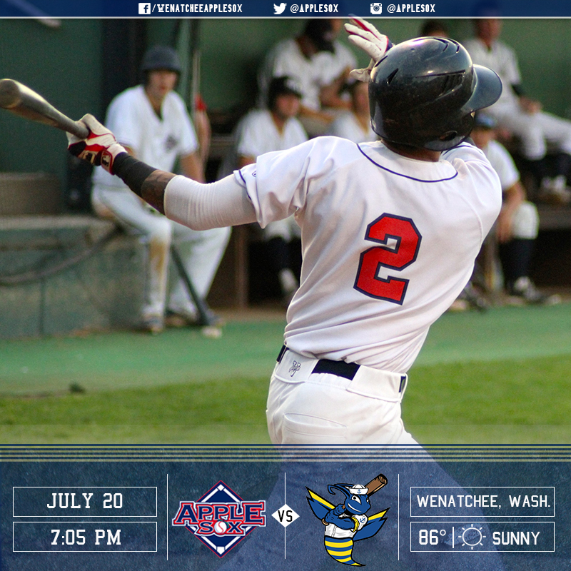 The AppleSox are back home following the 2016 WCL All Star break to face the Kitsap BlueJackets in a three-game series, starting Wednesday night at 7:05 p.m.