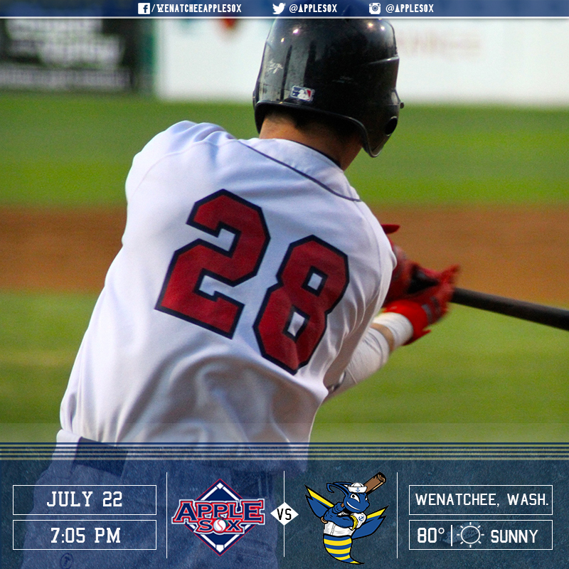 The AppleSox wrap up series play with the Kitsap BlueJackets, Friday night at 7:05 p.m.