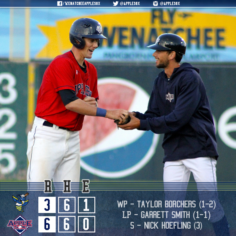 The AppleSox capped a series with the Kitsap BlueJackets, winning 6-3 at Paul Thomas Sr. Stadium, Friday.