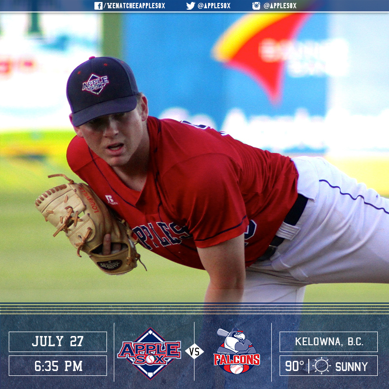 Mac Lardner will make his second start of 2016, Wednesday, as Wenatchee looks to even up a three-game series with North-foe, Kelowna.