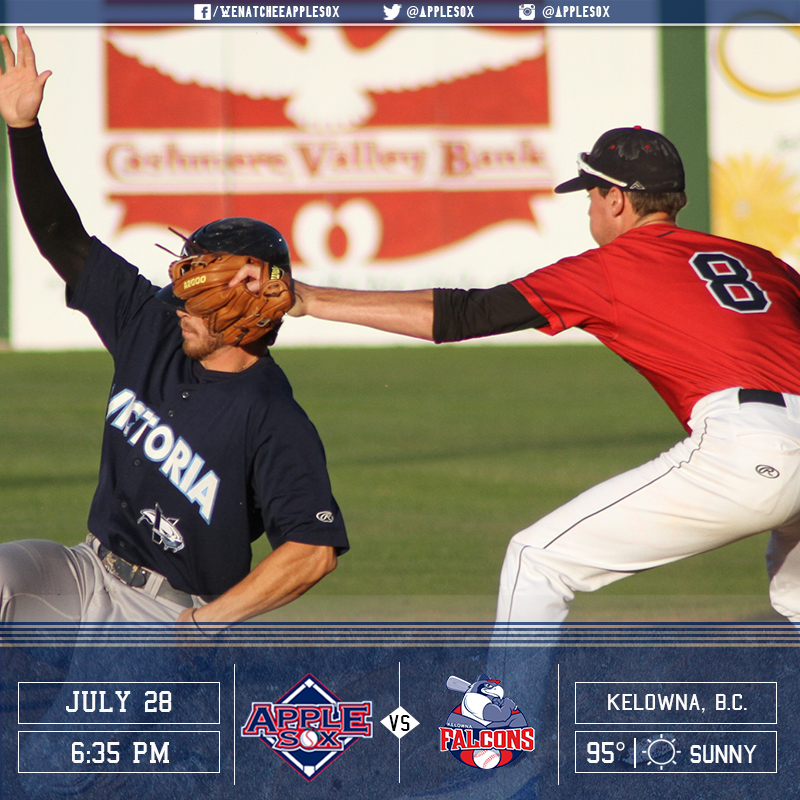 The AppleSox and the Falcons play for the series, Thursday night in British Columbia.
