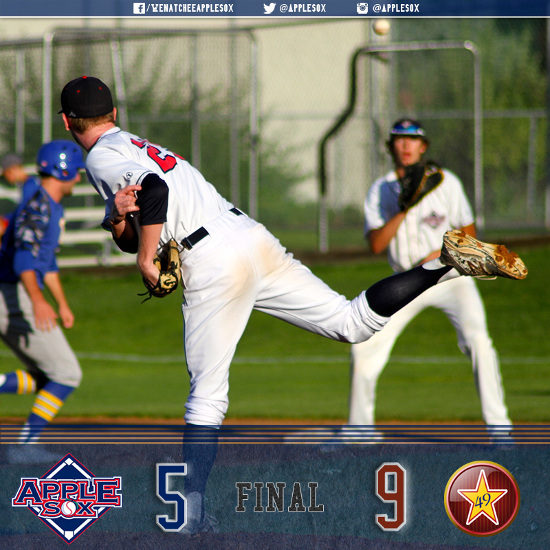 The AppleSox committed five errors and gifted runs in a game-three loss to Alaska.