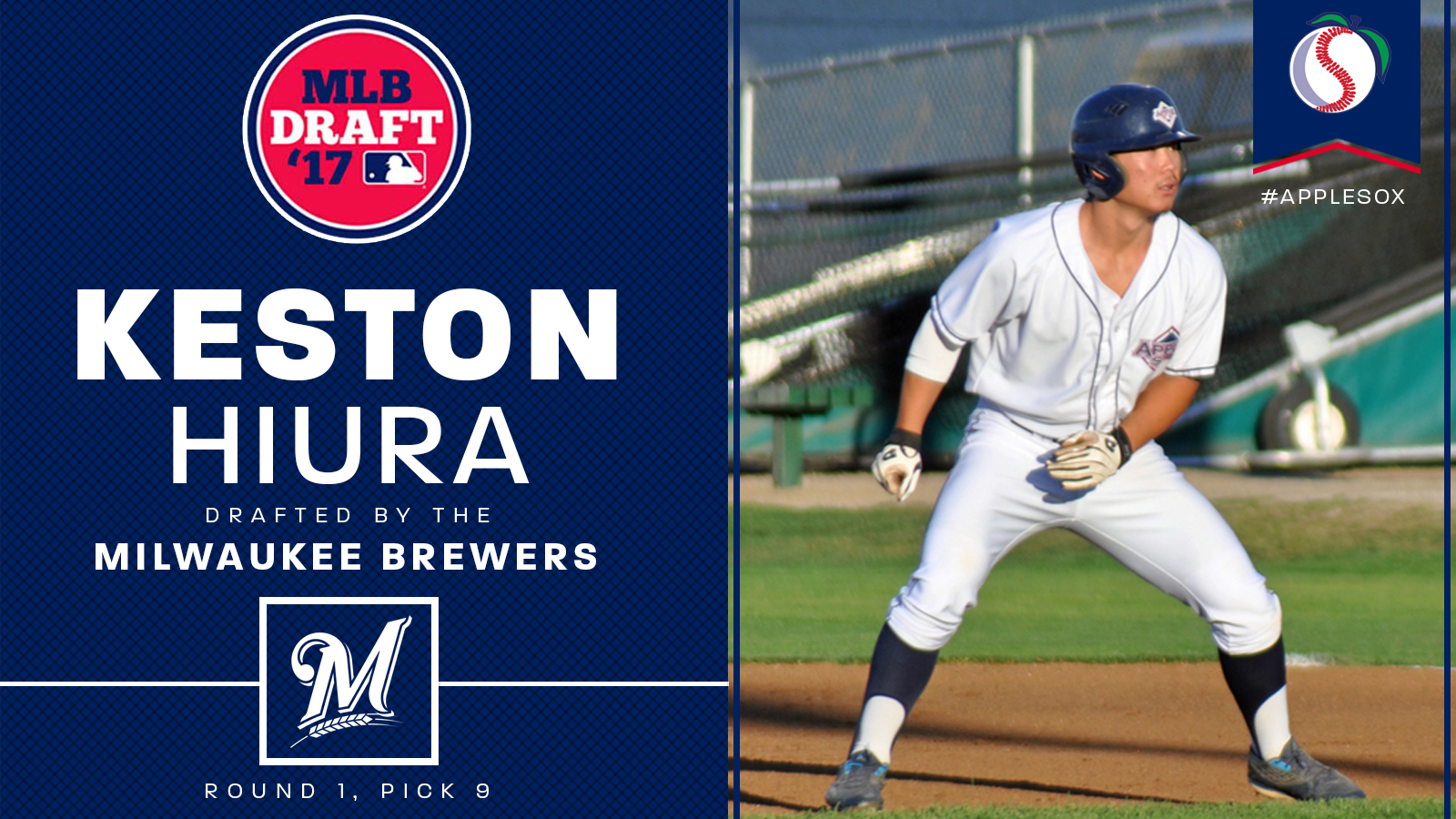 The Milwaukee Brewers took Keston Hiura with the 9th overall pick in the 2017 MLB Draft, to make him the highest MLB Draft pick in WCL history.