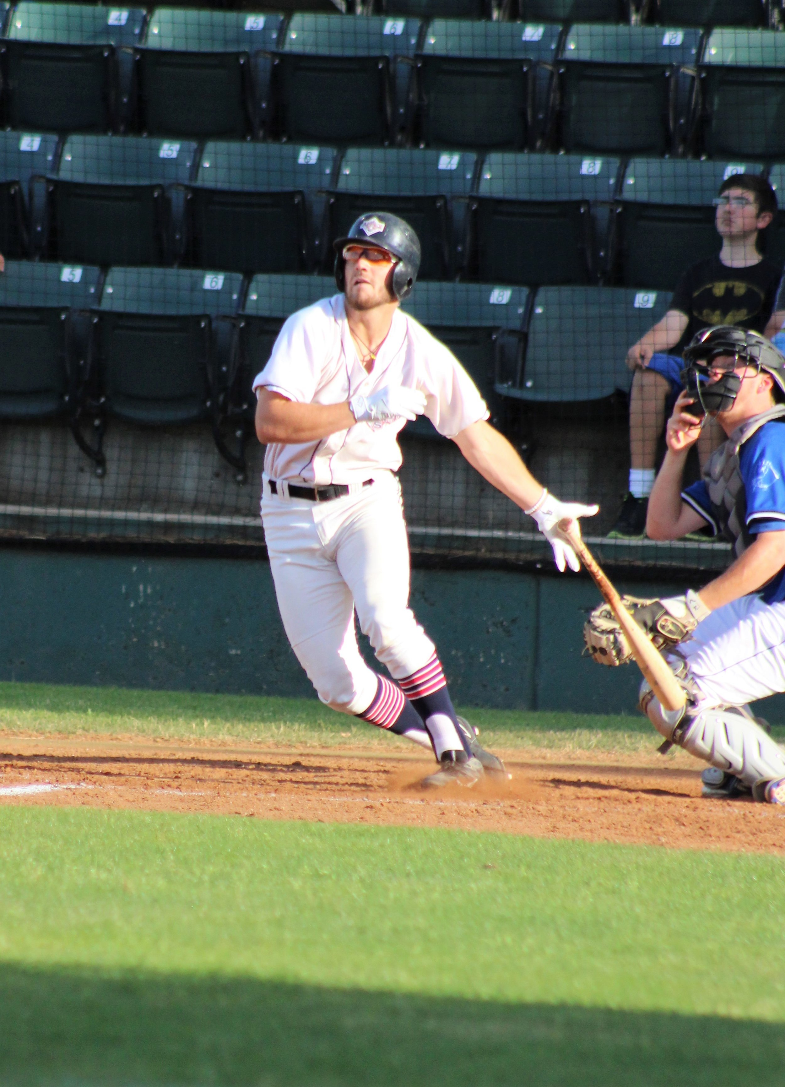 Josh Zamora homered to lead off the third inning for Wenatchee. He finished with three hits. Photo by Alyssa Taylor
