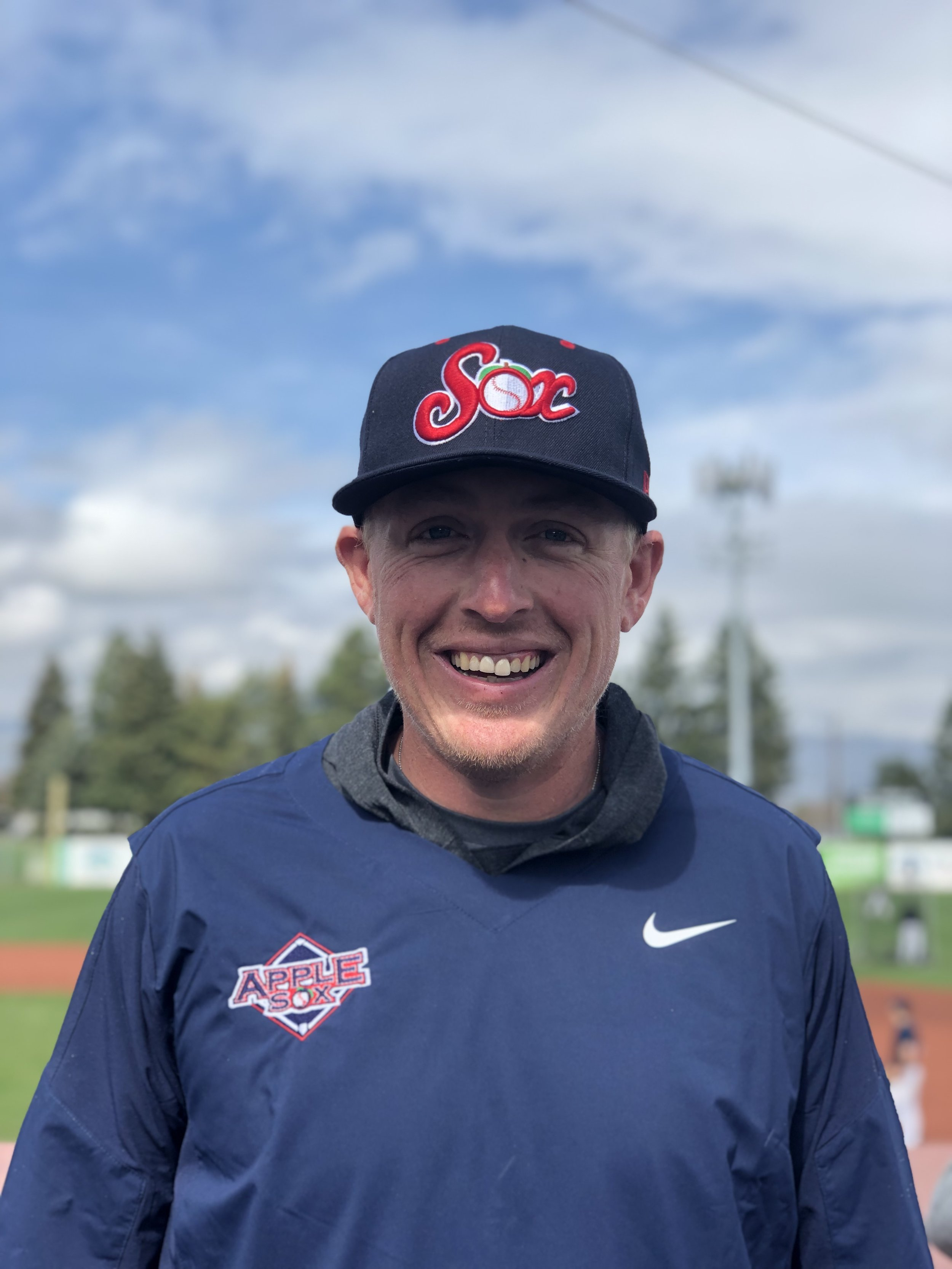 AppleSox head coach Kyle Krustangel