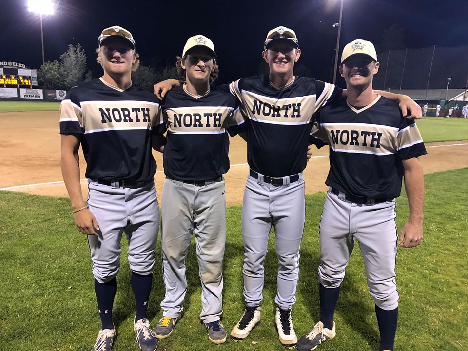 AppleSox 2019 All-Stars (L to R) Sam Wyatt, Ryan Altenberger, Cole McKenzie and Jake Saum.