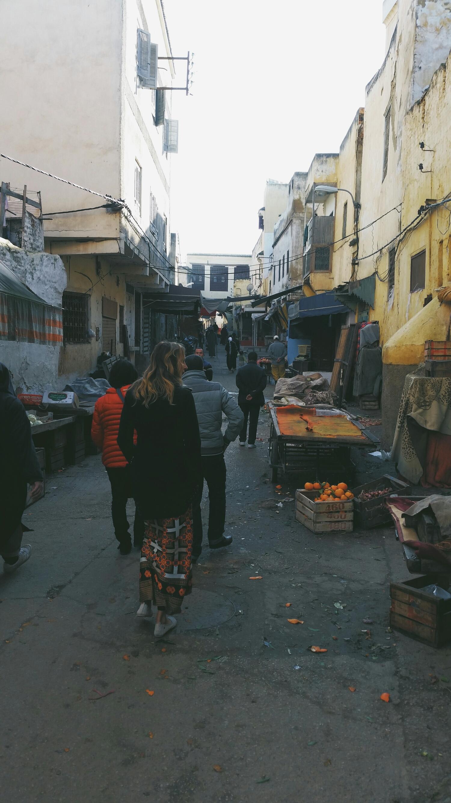 exploring the medina of Meknes
