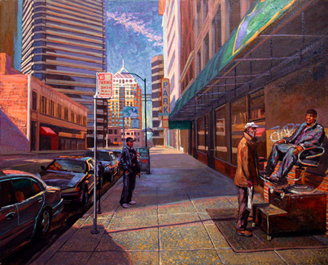 Holdsworth Painting Shoeshine 13th Franklin Oakland Jim Hines