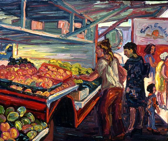 John's Market, oil on canvas, 1976
