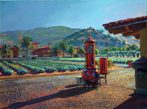 "Lavendar Morning, oil/canvas, 18"" X 24"""