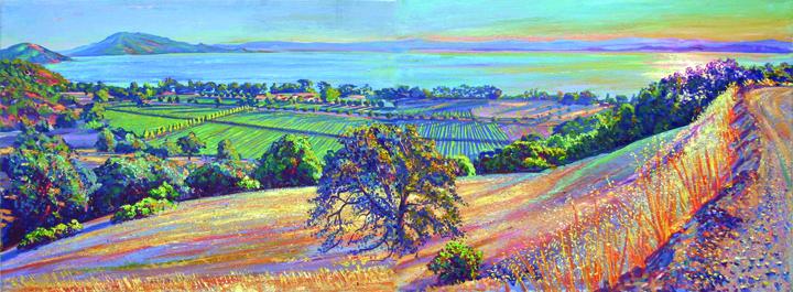 """Ceago Panorama, oil/canvas, 18"""" X 48"""", 2008"""