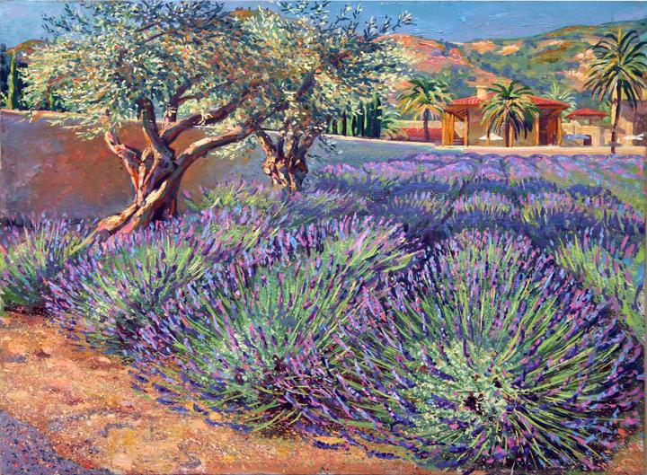 """Lavender, 18"""" X 24"""", oil/canvas, 2009"""