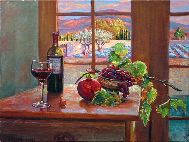 "Ceago Still Life, oil/canvas, 18"" X 24"", 2007"
