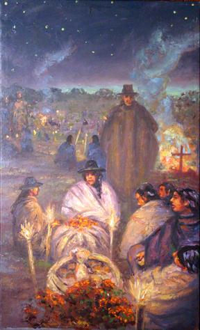 Noche de los Muertos. Ihautzio, near Patzcuaro, Michoacan