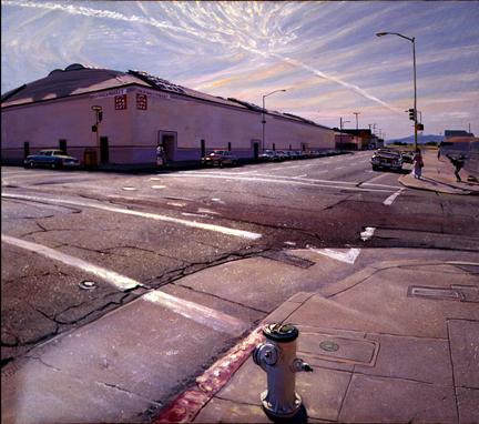 """Blue Distances # 1, oil/canvas, 34"""" X 40"""", 1989"""