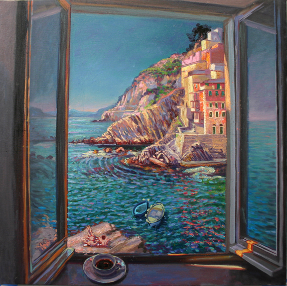 Cinque Terre through my Window.