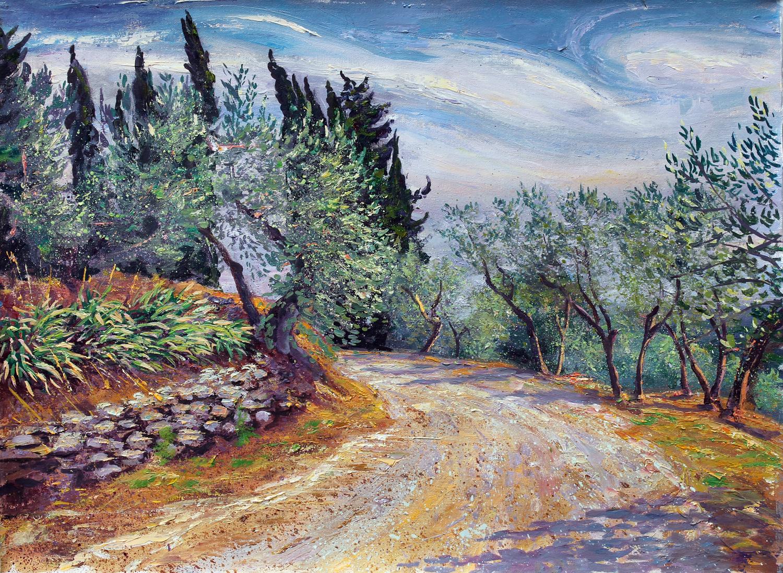 Road to the Farm, Tuscany