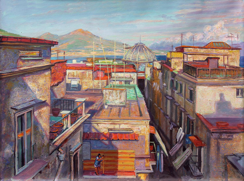 View of Vesuvius from Naples