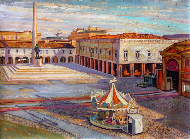The main square of Lugo in Emilia-Romagna
