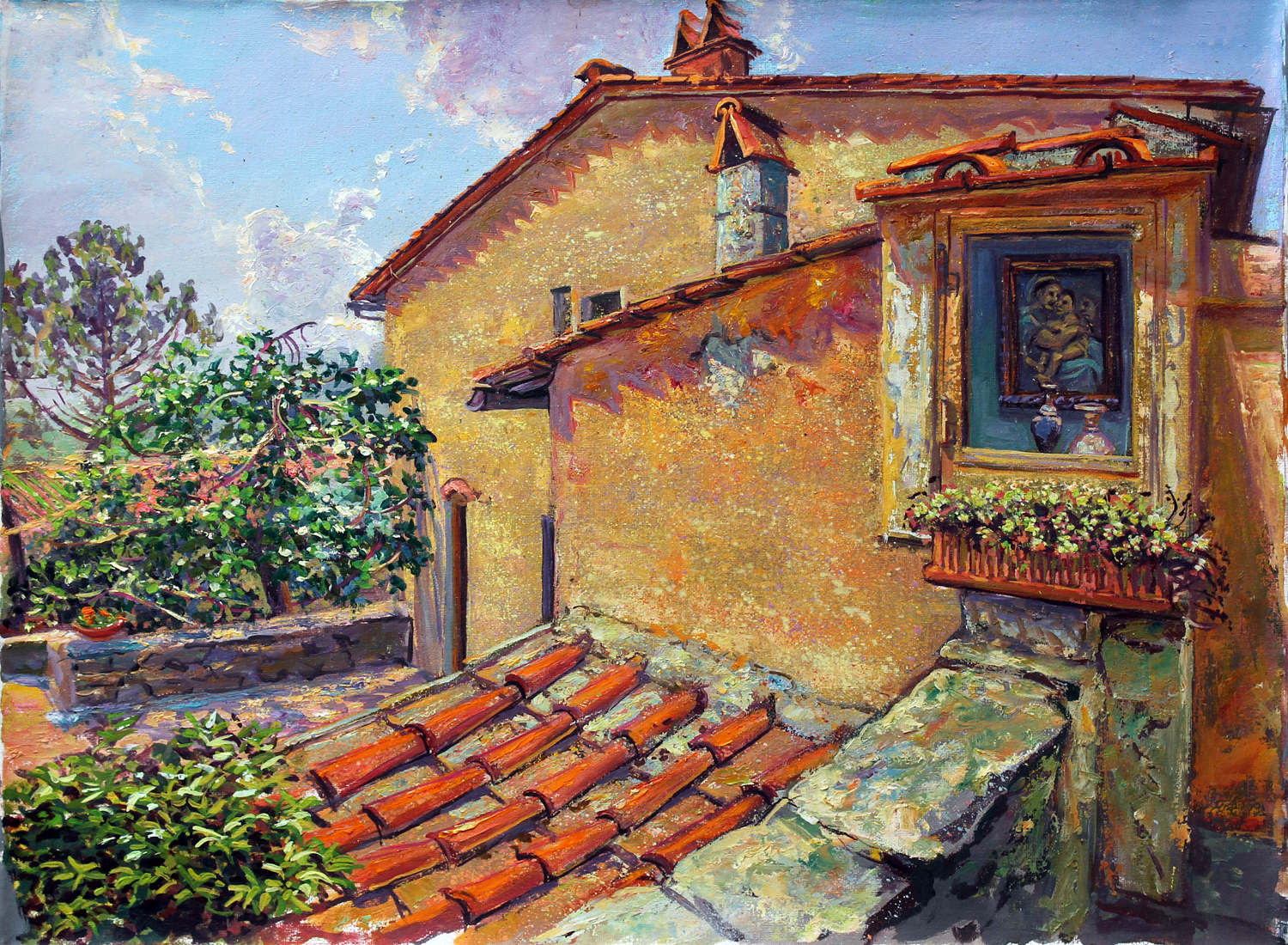 Our painting group's base twenty minutes from Florence:  Querce Seconda, Romola, Tuscany
