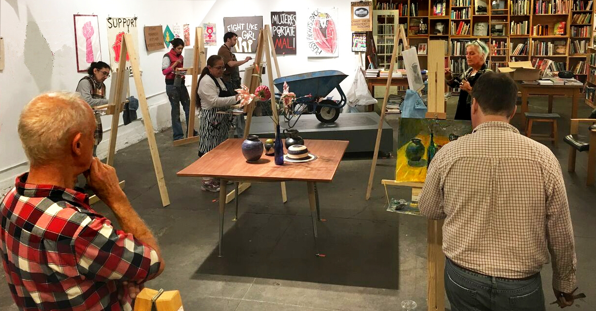 A class at Alley Cat in San Francisco