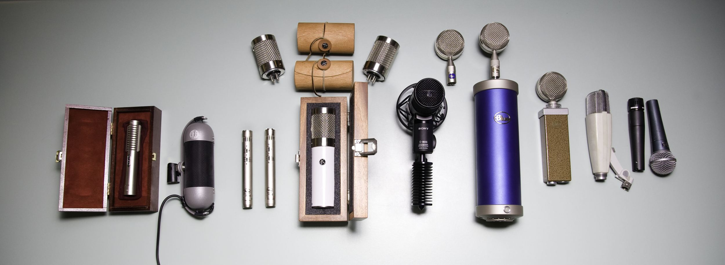 Some of our most commonly used microphones...