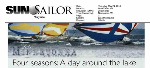 Sun Sailor | Wayzata, Hopkins, Minnetonka Editions (May 24, 2018) -  'Four seasons: A day around the lake'